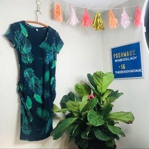 Maternity Dresses - Old Navy Palm Frond Monstera Leaf Maternity Dress